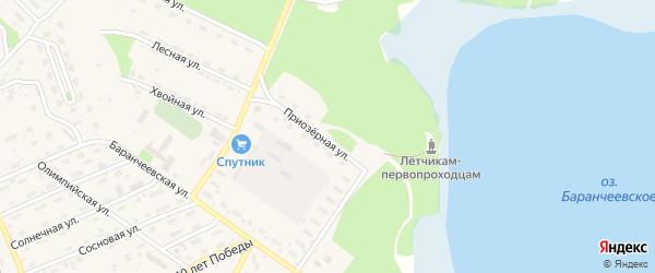 Приозерная улица на карте поселка Таксимо с номерами домов