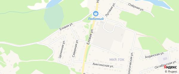 Еловая улица на карте поселка Таксимо с номерами домов