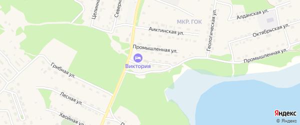 Закаменская улица на карте поселка Таксимо с номерами домов