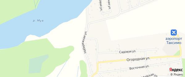 Аэропортный переулок на карте поселка Таксимо с номерами домов