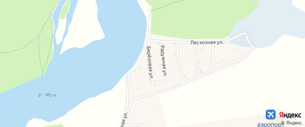 Березовая улица на карте поселка Таксимо с номерами домов