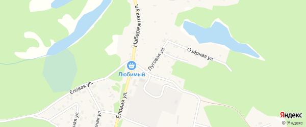 Луговая улица на карте поселка Таксимо с номерами домов