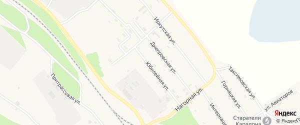 Юбилейная улица на карте поселка Таксимо с номерами домов