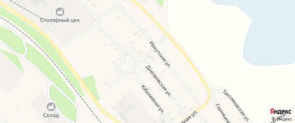Днепровская улица на карте поселка Таксимо с номерами домов