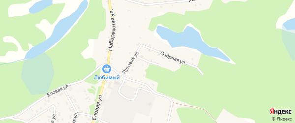 Родниковая улица на карте поселка Таксимо с номерами домов