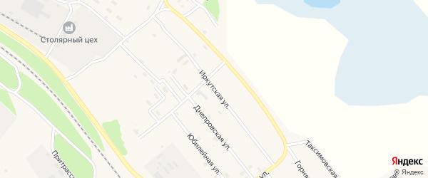 Иркутская улица на карте поселка Таксимо с номерами домов