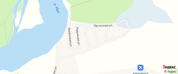 Листвиничная улица на карте поселка Таксимо с номерами домов
