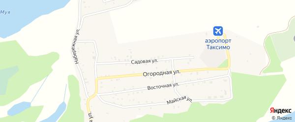 Садовая улица на карте поселка Таксимо с номерами домов
