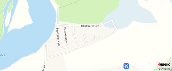 Байкальская улица на карте поселка Таксимо с номерами домов
