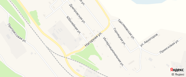 Нагорная улица на карте поселка Таксимо с номерами домов