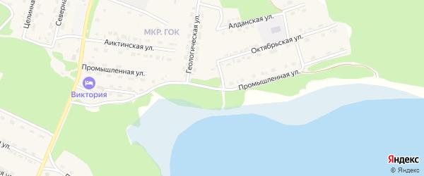 Промышленная улица на карте поселка Таксимо с номерами домов