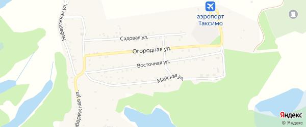 Восточная улица на карте поселка Таксимо с номерами домов