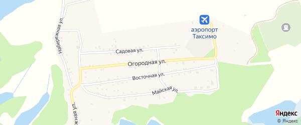 Огородная улица на карте поселка Таксимо с номерами домов