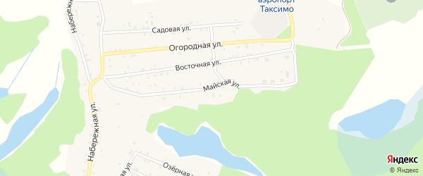 Майская улица на карте поселка Таксимо с номерами домов
