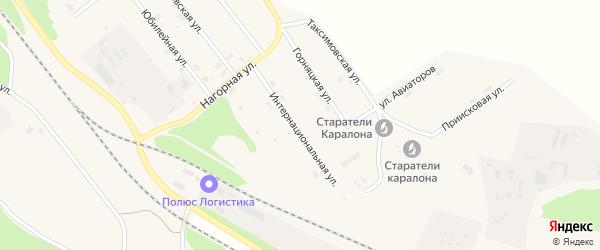 Интернациональная улица на карте поселка Таксимо с номерами домов