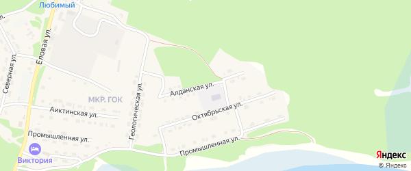 Алданская улица на карте поселка Таксимо с номерами домов