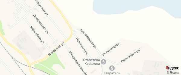 Таксимовская улица на карте поселка Таксимо с номерами домов