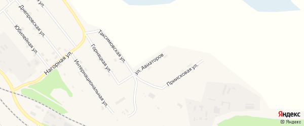 Улица Авиаторов на карте поселка Таксимо с номерами домов