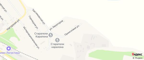 Приисковая улица на карте поселка Таксимо с номерами домов