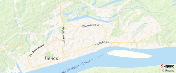 Карта Ленска с районами, улицами и номерами домов: Ленск на карте России