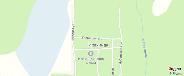 Горняцкая улица на карте поселка Иракинда с номерами домов