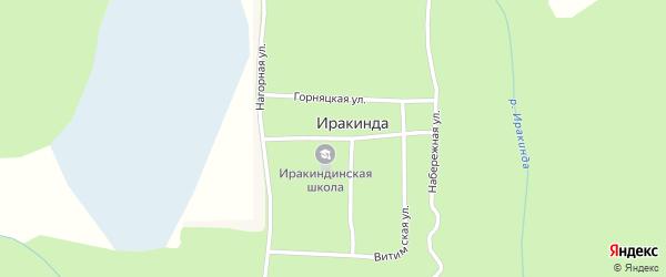 Школьная улица на карте поселка Иракинда с номерами домов