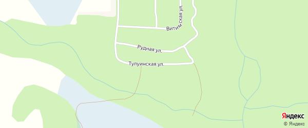 Тулуинская улица на карте поселка Иракинда с номерами домов