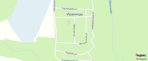 Таежная улица на карте поселка Иракинда с номерами домов