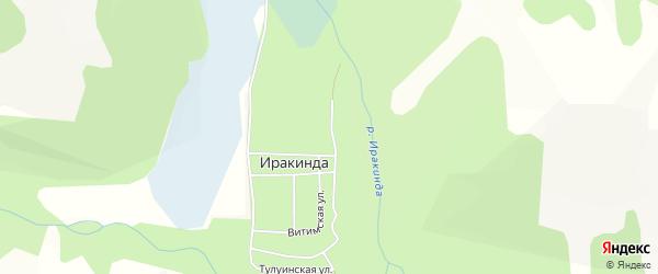 Карта поселка Иракинда в Бурятии с улицами и номерами домов