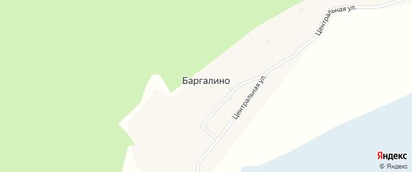 Центральная улица на карте поселка Баргалино с номерами домов