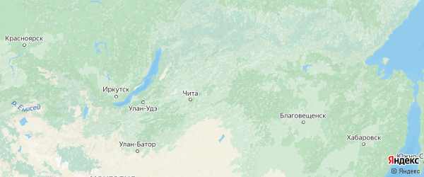 Карта Забайкальского края с городами и районами