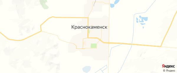 Карта Краснокаменска с районами, улицами и номерами домов