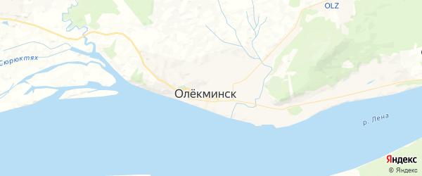 Карта Олекминска с районами, улицами и номерами домов