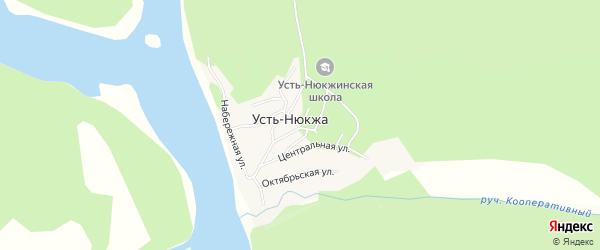 Карта села Усть-Нюкжа в Амурской области с улицами и номерами домов