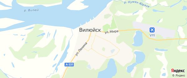 Карта Вилюйска с районами, улицами и номерами домов