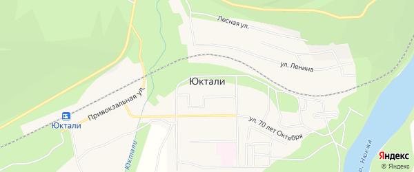 Карта поселка Юктали в Амурской области с улицами и номерами домов