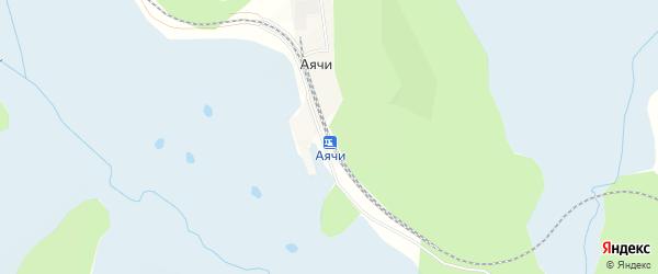 Карта железнодорожного разъезда Аячей в Амурской области с улицами и номерами домов
