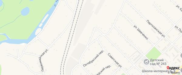 Октябрьский 2-й переулок на карте поселка Ерофея Павловича с номерами домов