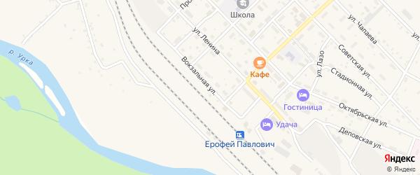 Вокзальная улица на карте поселка Ерофея Павловича с номерами домов