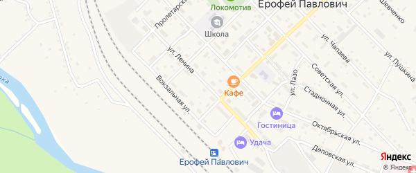 Улица Ленина на карте поселка Ерофея Павловича с номерами домов