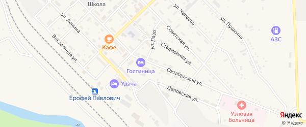 Октябрьская улица на карте поселка Ерофея Павловича с номерами домов