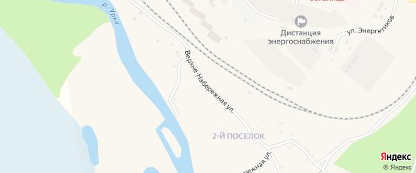 Верхне-Набережная улица на карте поселка Ерофея Павловича с номерами домов