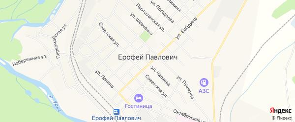 Карта поселка Ерофея Павловича в Амурской области с улицами и номерами домов