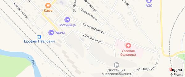 Деповская улица на карте поселка Ерофея Павловича с номерами домов