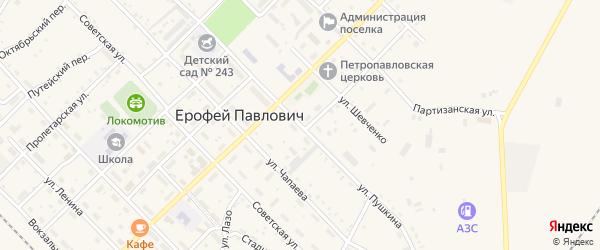 Улица Пушкина на карте поселка Ерофея Павловича с номерами домов