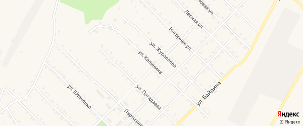 Улица Калинина на карте поселка Ерофея Павловича с номерами домов