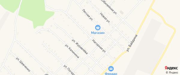 Нагорная улица на карте поселка Ерофея Павловича с номерами домов