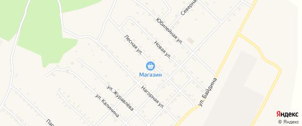 Лесная улица на карте железнодорожной станции Бам с номерами домов