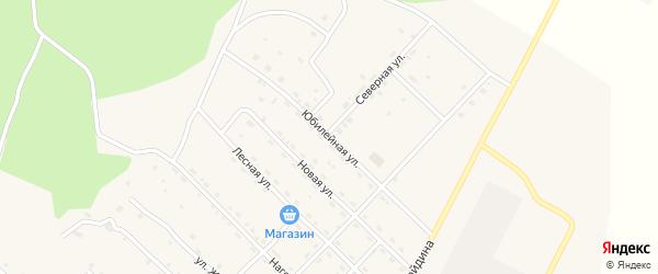 Юбилейная улица на карте поселка Ерофея Павловича с номерами домов