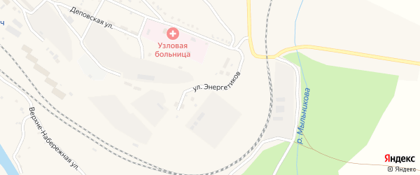 Улица Энергетиков на карте поселка Ерофея Павловича с номерами домов